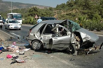 Bodrum'da trafik kazaları : 2 ölü